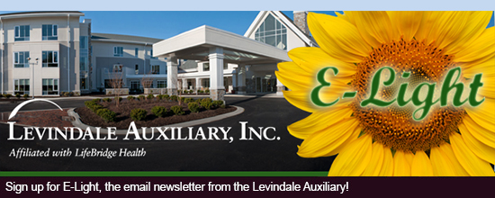 Sign up for E-Light, the email newsletter from the Levindale Auxiliary!