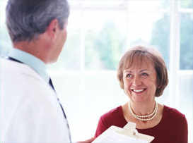 Image of a patient and Doctor