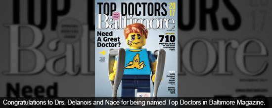 Congratulations to Drs. Mont, Delanois, and Waldman for being named as Top Doctors in Joint Replacement by Baltimore Magazine.